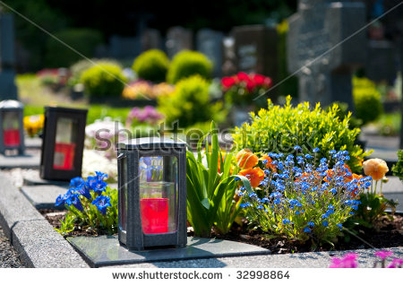 Grave Candle Stock Photos, Royalty.