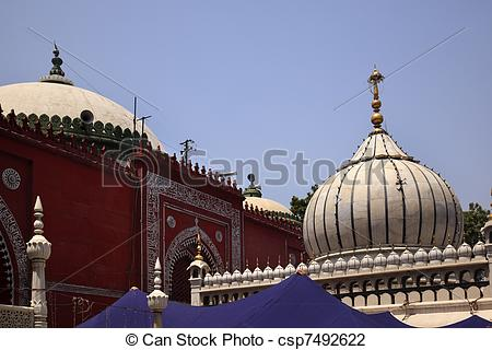 Stock Photo of Nizamuddin Complex Mosque Grave New Delhi India.