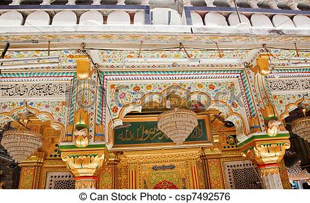 Stock Image of Mosaics Designs Nizamuddin Complex Mosque New Delhi.