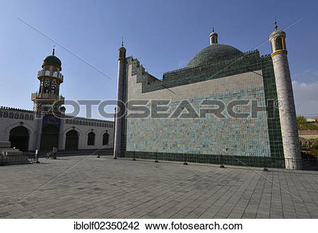"""Stock Photo of """"The mosque and the mausoleum at the royal Hami."""