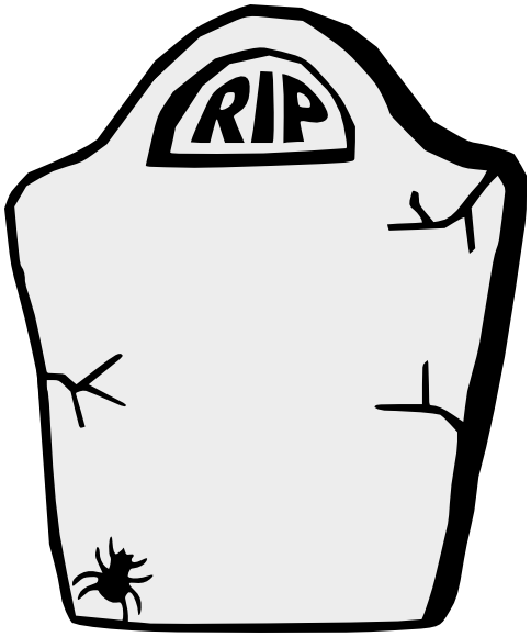 Grave Stone Cartoon.