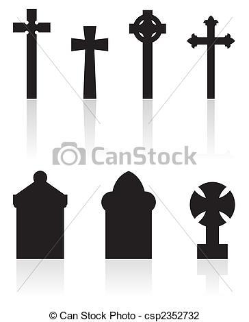 Clip Art of gravestones.