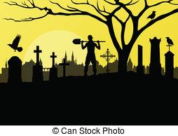 Graveyard Clipart and Stock Illustrations. 9,593 Graveyard vector.