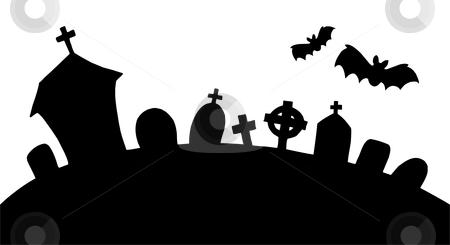 Halloween cemetery clipart.