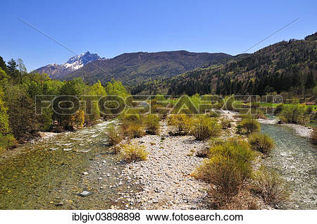 """Pictures of """"Gravel bank on the Melezza river, Centovalli, Canton."""