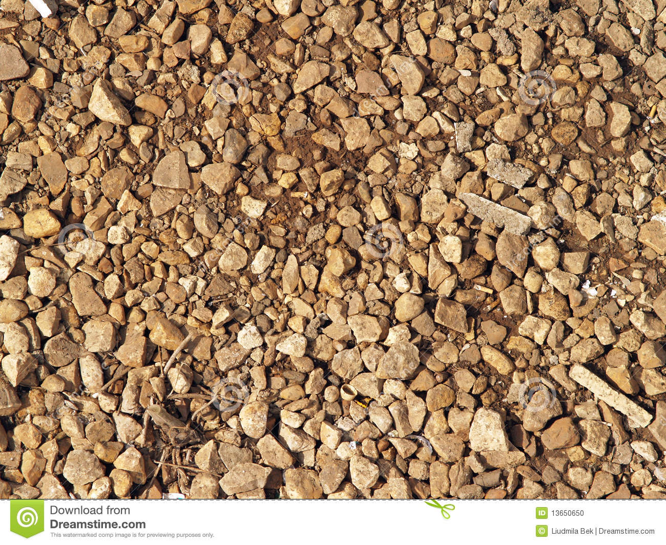 Gravel Bed Stock Photo.
