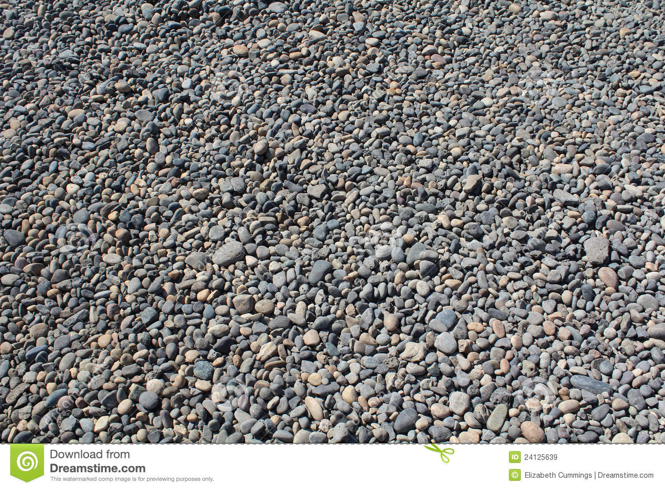River Rock Gravel Bed Royalty Free Stock Images.