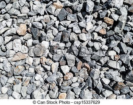 Stock Photo of rock pieces crushed gravel texture csp15337629.