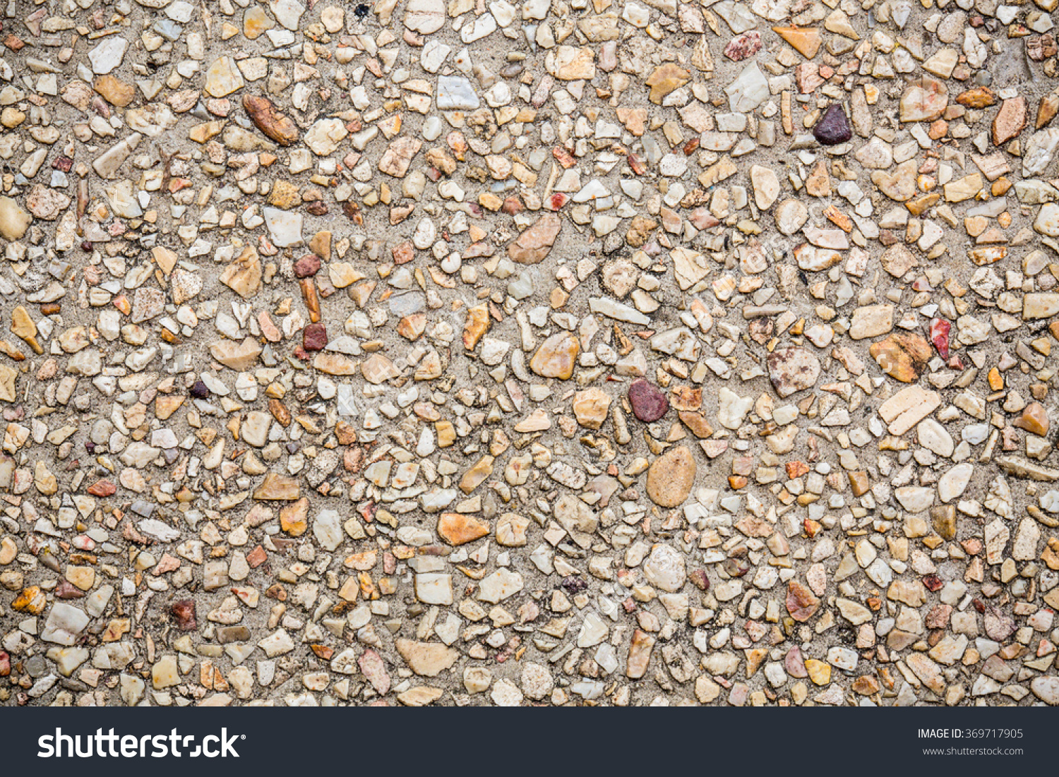Gravel Stone Cement Pavement Pebble Road Stock Photo 369717905.