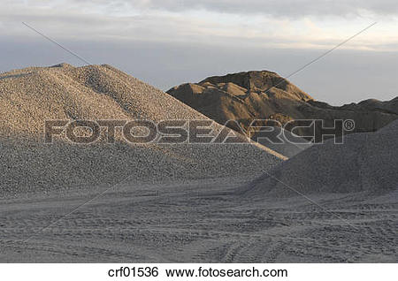 Stock Images of Gravel pit crf01536.