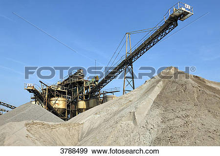 Stock Photograph of Gravel pit, Dormagen, North Rhine.