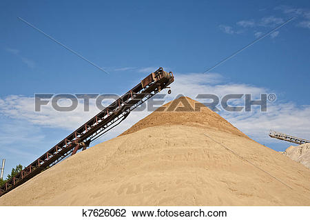 Stock Photo of Conveyor on site at gravel pit k7626062.