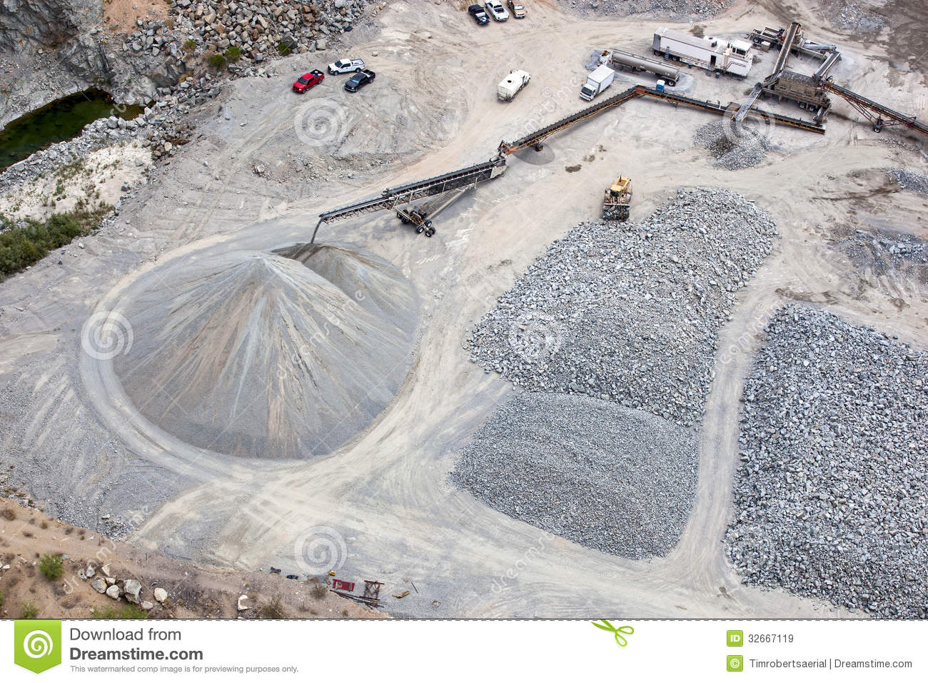 Gravel Pit Royalty Free Stock Images.