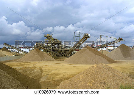 Stock Photograph of England, West Sussex, Portslade. Gravel.