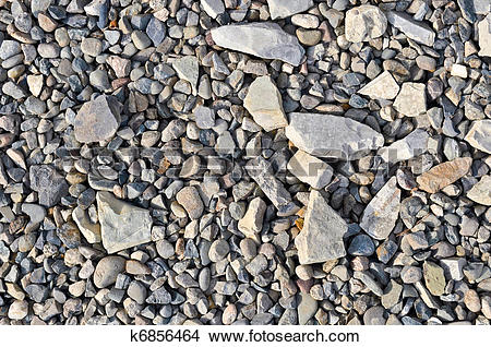 Stock Photo of Road stone gravel texture to background k6856464.