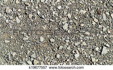 Picture of Repetitive pattern stones and gravel k19677557.