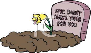 Royalty Free Clipart Image: Religious Grave Stone.