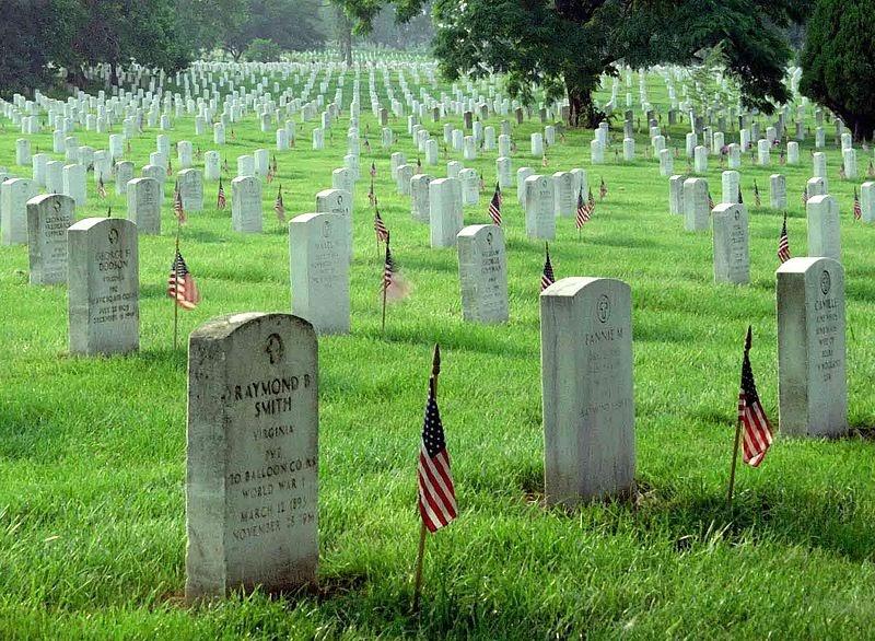 Memorial Day Arlington National Cemetery Public Domain Clip Art.