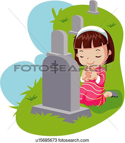Gravestone Memorial Day Clipart.
