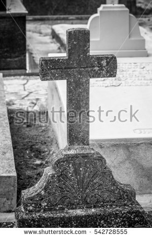 Gravestone Jesus Cross Stock Images, Royalty.