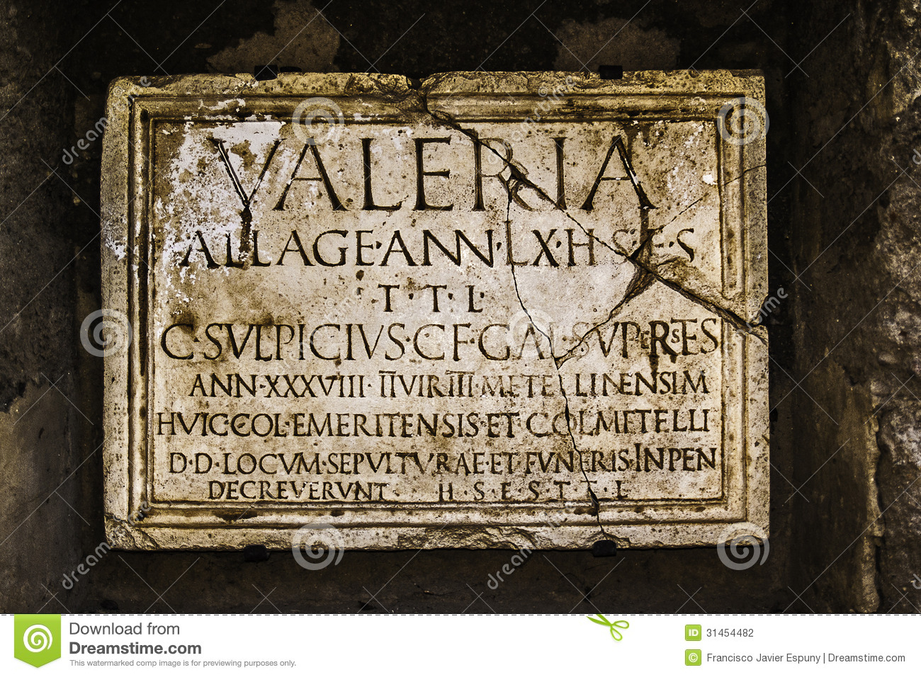 Ancient Tombstone Royalty Free Stock Photography.