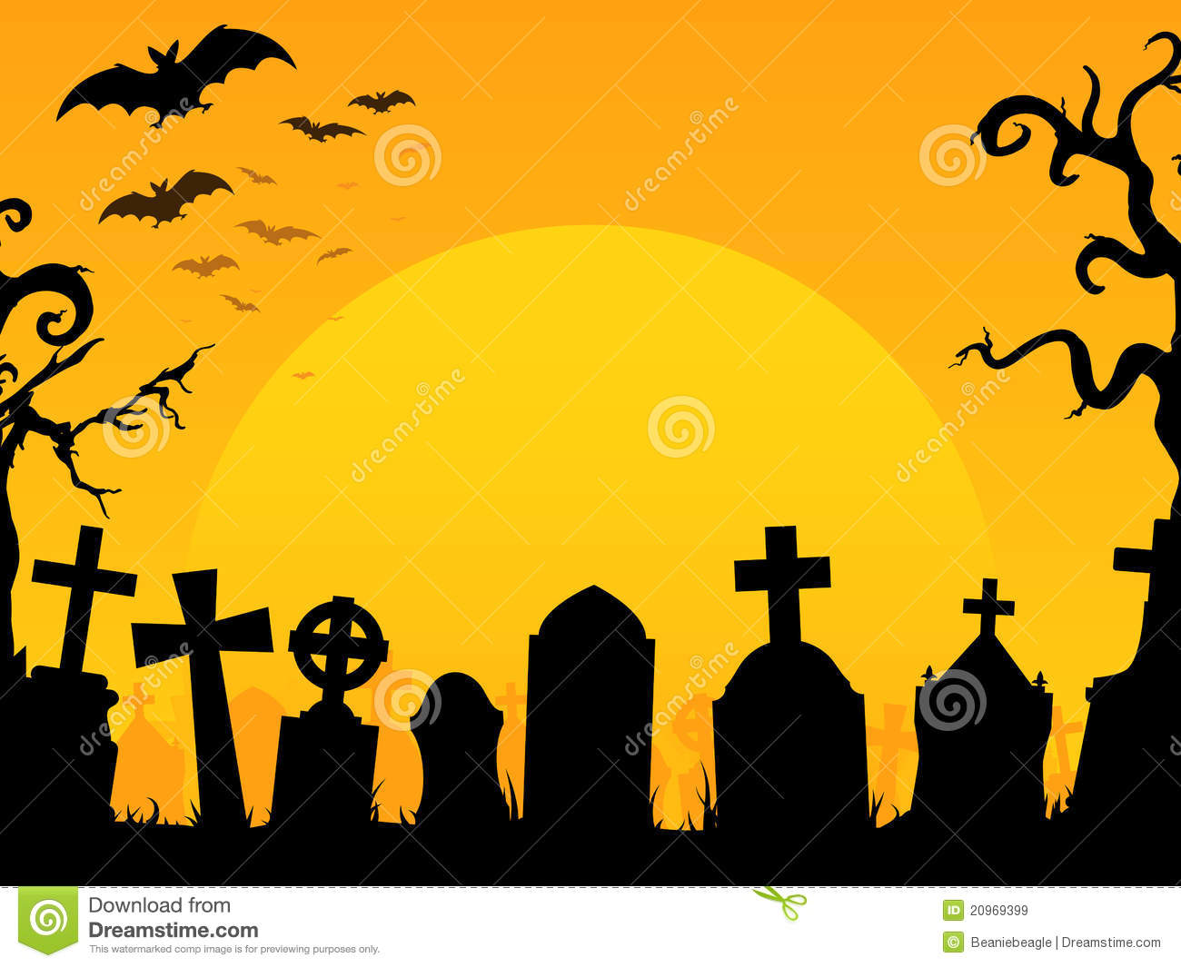 Graveyard Background Clipart.