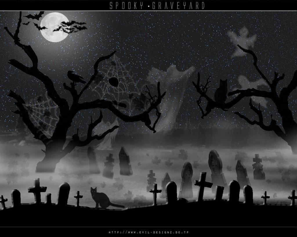Graveyard clipart creepy graveyard, Graveyard creepy.