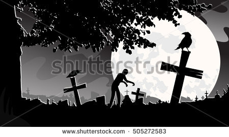 Graveyard Stock Images, Royalty.