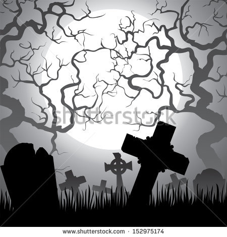 Graveyard Tree Outline Clipart Clipground