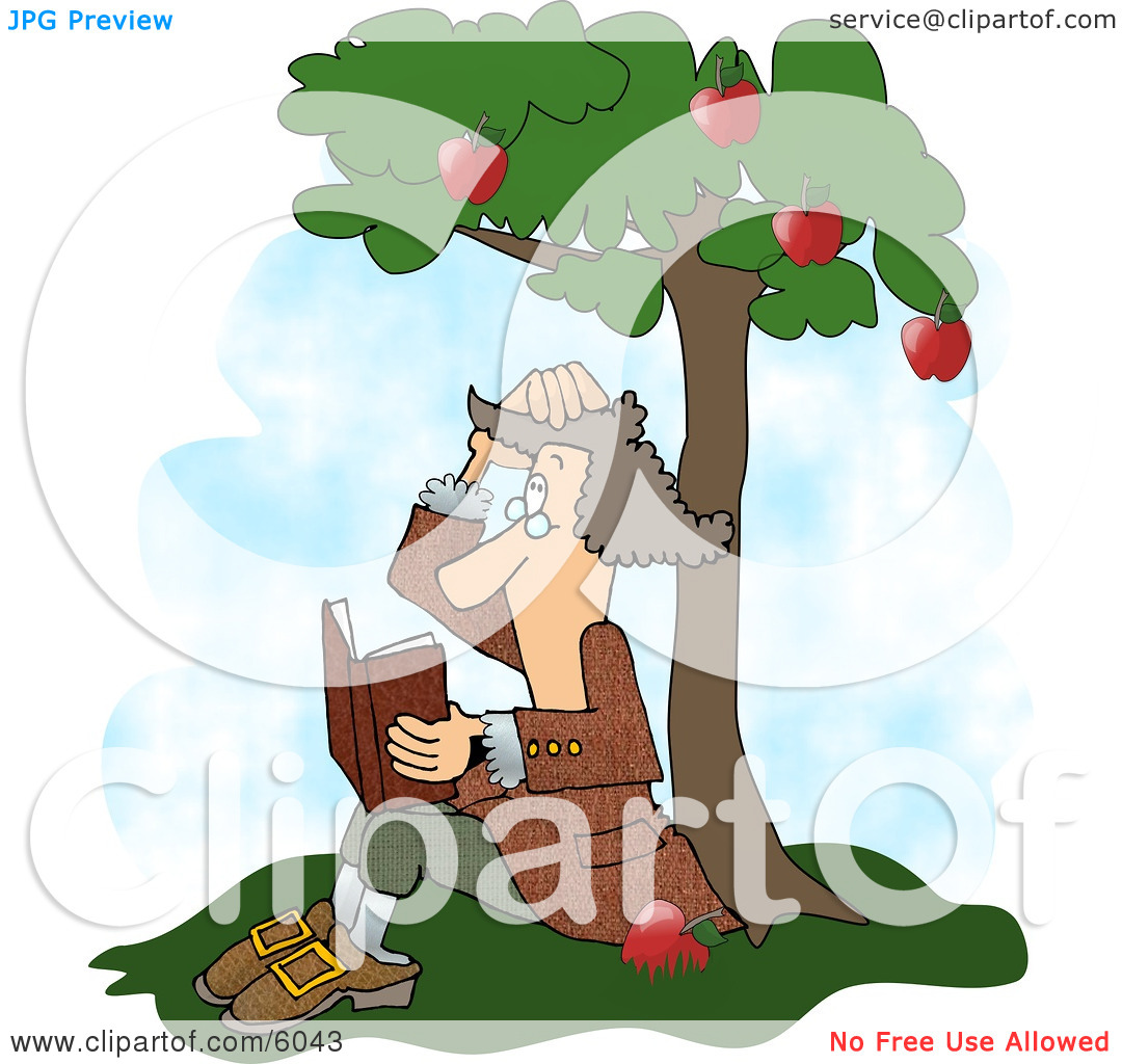 Sir Isaac Newton's Universal Law of Gravitation Clipart Picture by.