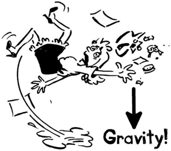 gravity force clipart