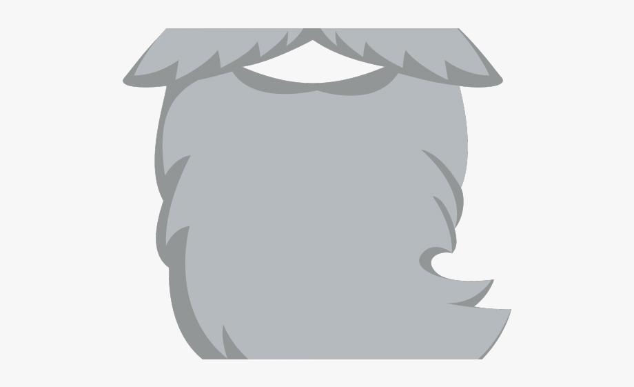 Mustache Clipart Gray.