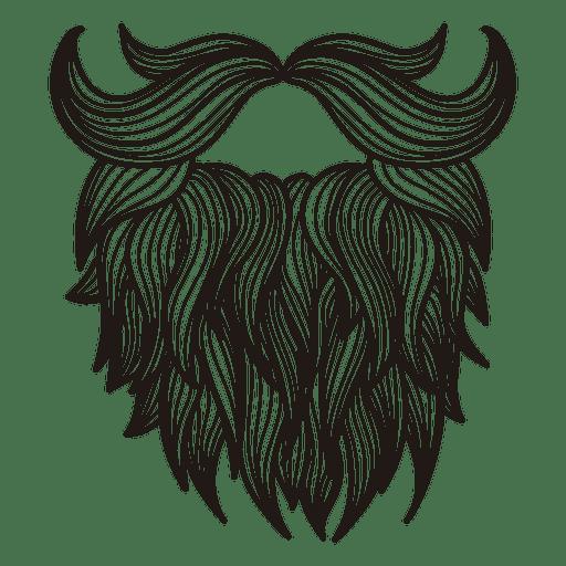 Illustrated hipster moustache beard.