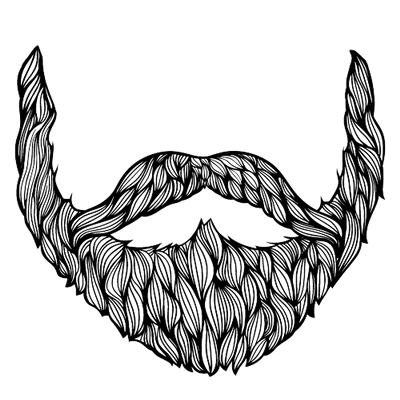 Grey Black Beard transparent PNG.