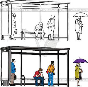 Bus Stop Clipart.