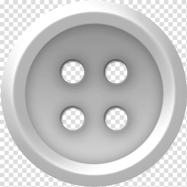 Buttons , round gray clothes button transparent background.