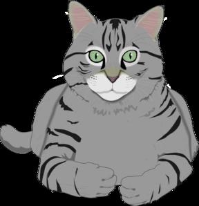 Totetude Gray Cat Clip Art at Clker.com.