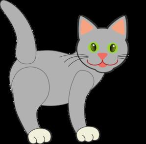 Gray cat clipart.