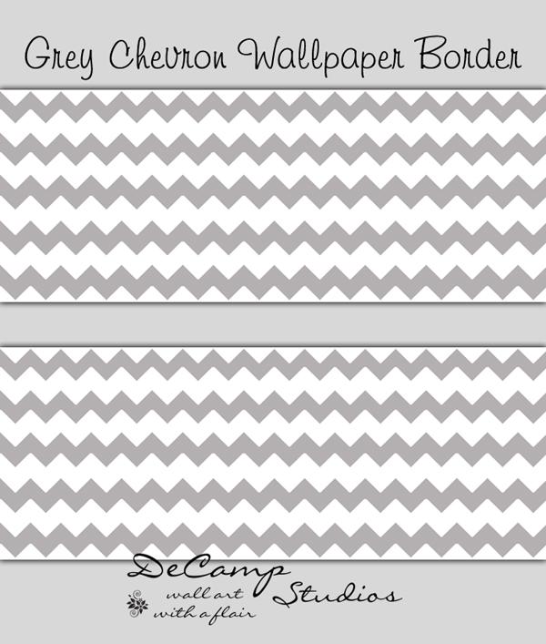 Gray Chevron Border Clip Art free image.
