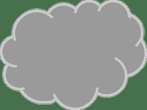 Gray cloud clipart 1 » Clipart Portal.