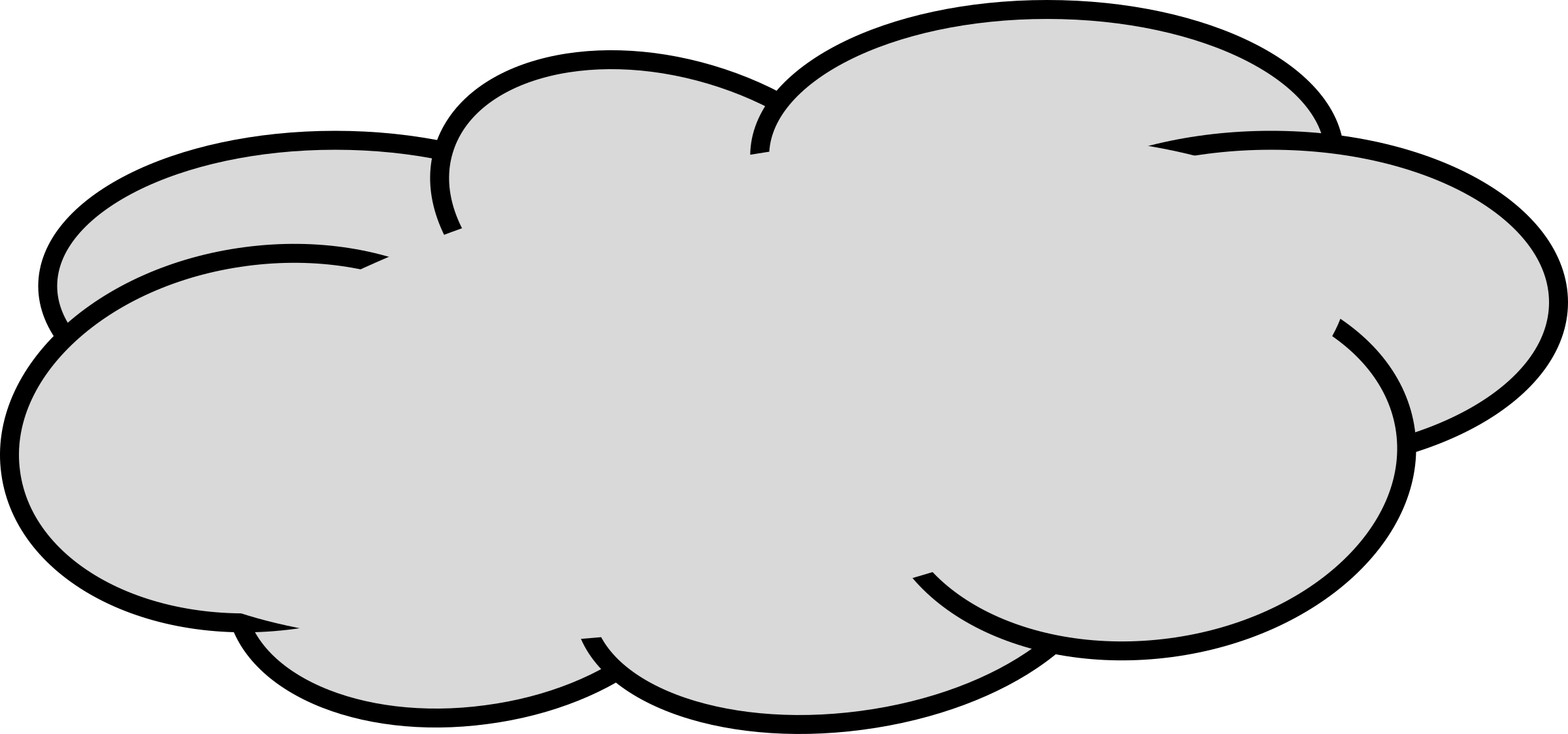 Gray clouds clipart - ...