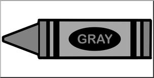 Clip Art: Crayon Gray Color I abcteach.com.