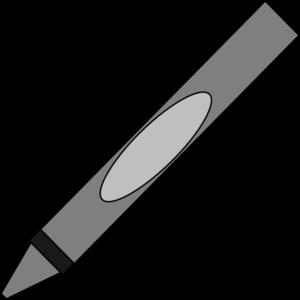 Gray Crayon Clip Art at Clker.com.