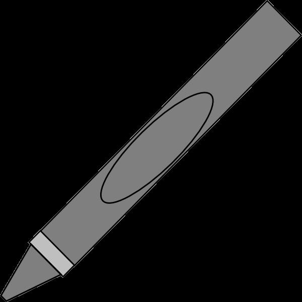 Gray Crayon Clip Art At Vector Transparent Png.