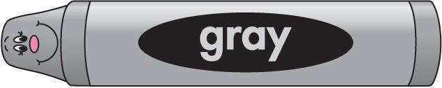 The Gray Color Crayon.