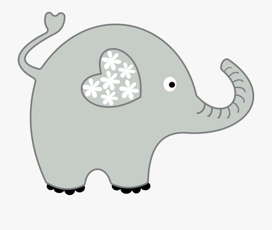 Elephant Clipart Grey.