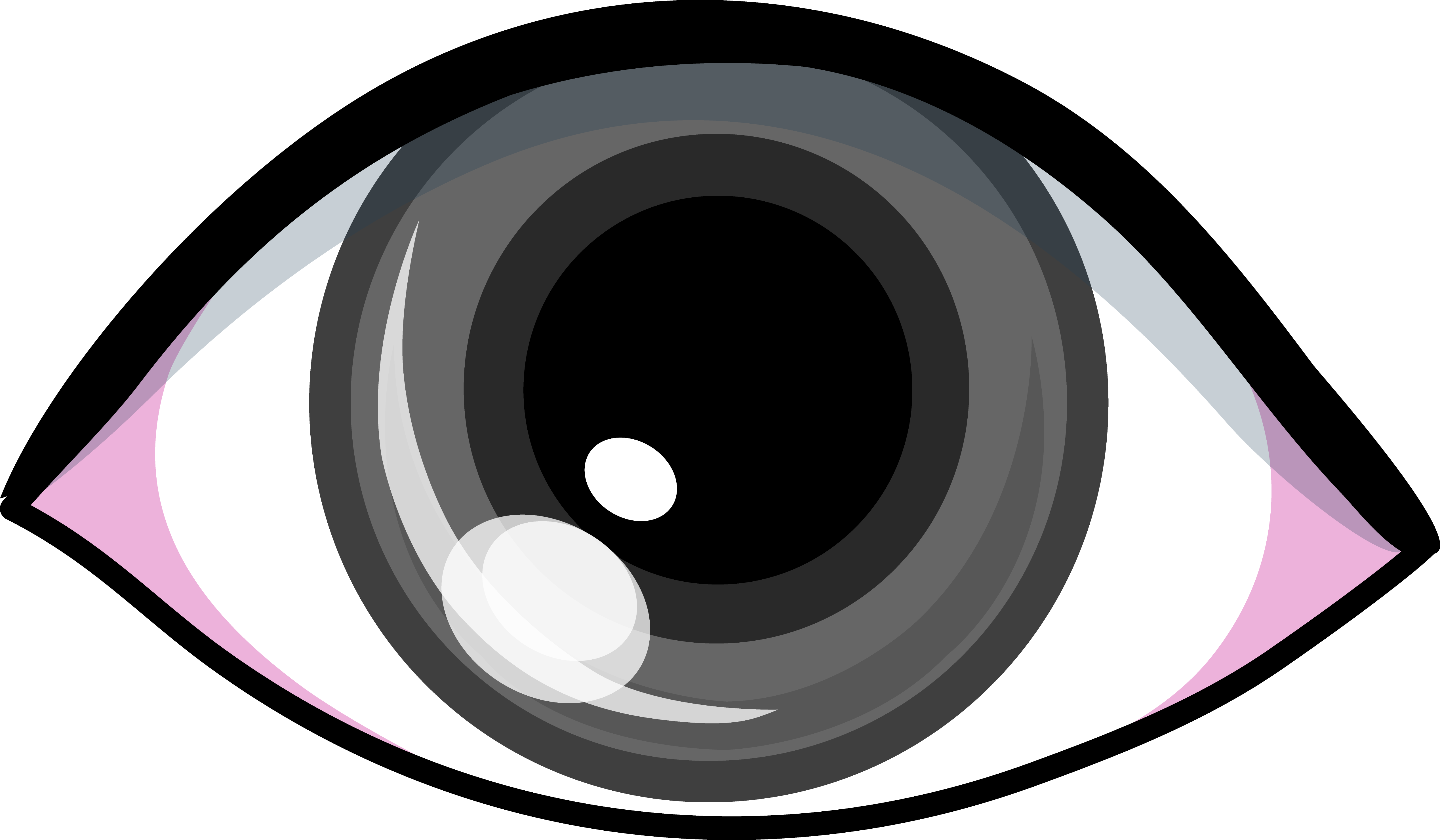 Eyes on grey background clipart.