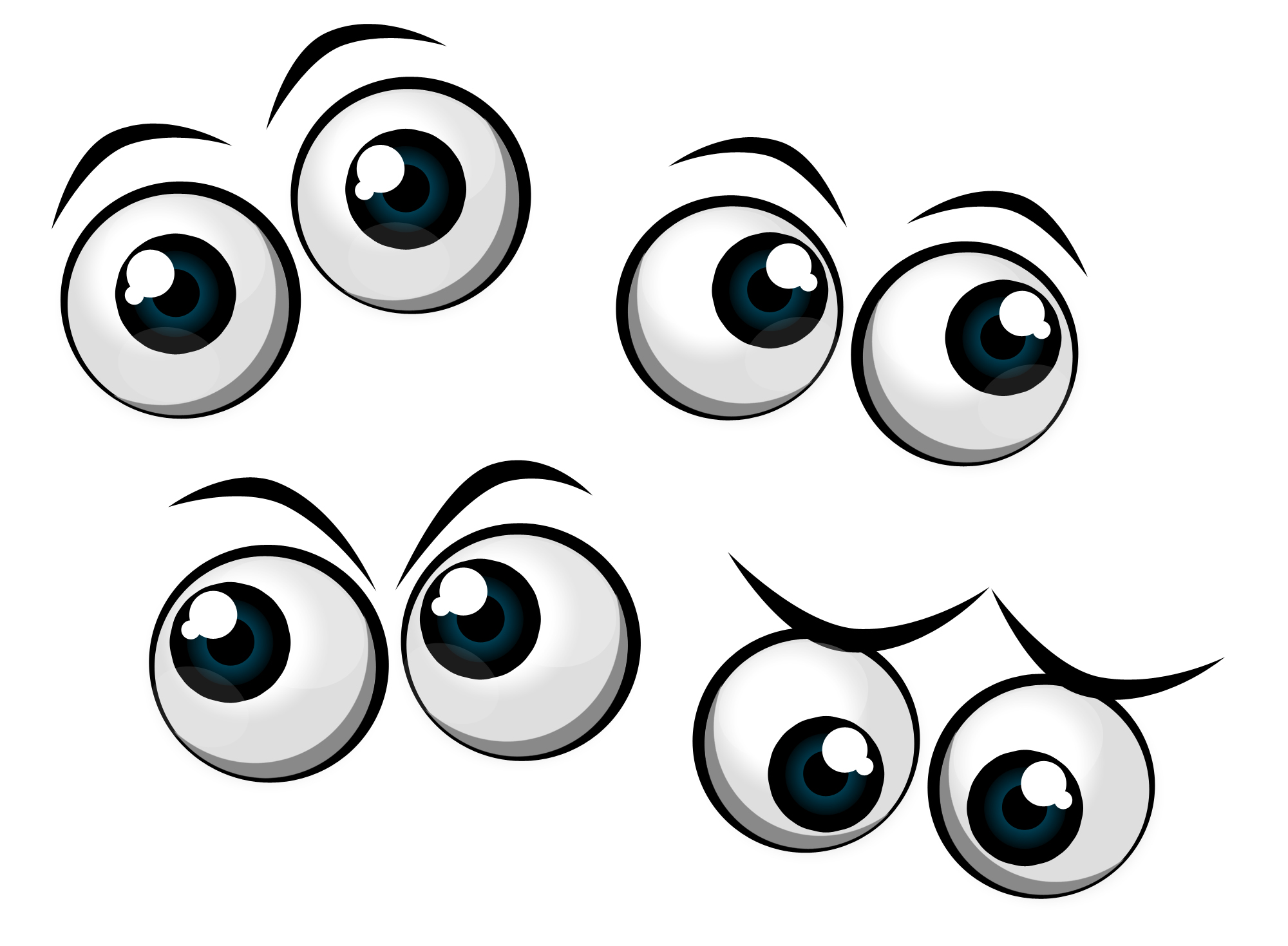 Clip Art Grey Eyes Clipart.