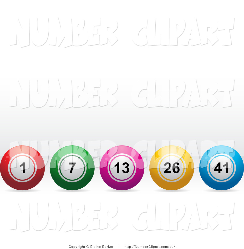 Blue gray green yellow red ball clipart.