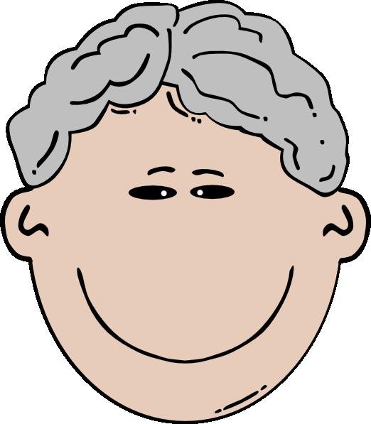 Gray hair clipart.